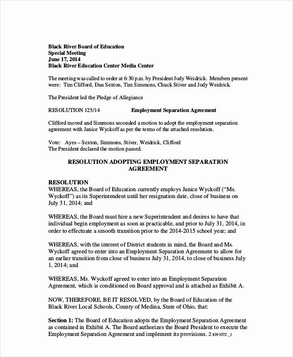 Business Separation Agreement Template New 12 Sample Severance Agreement Templates Pdf Docs