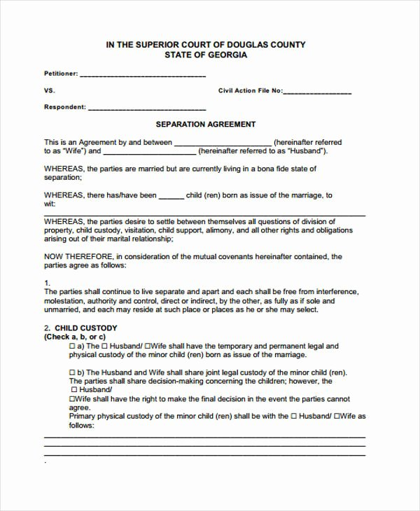 Business Separation Agreement Template New 34 Printable Agreement Templates Word Pdf Pages