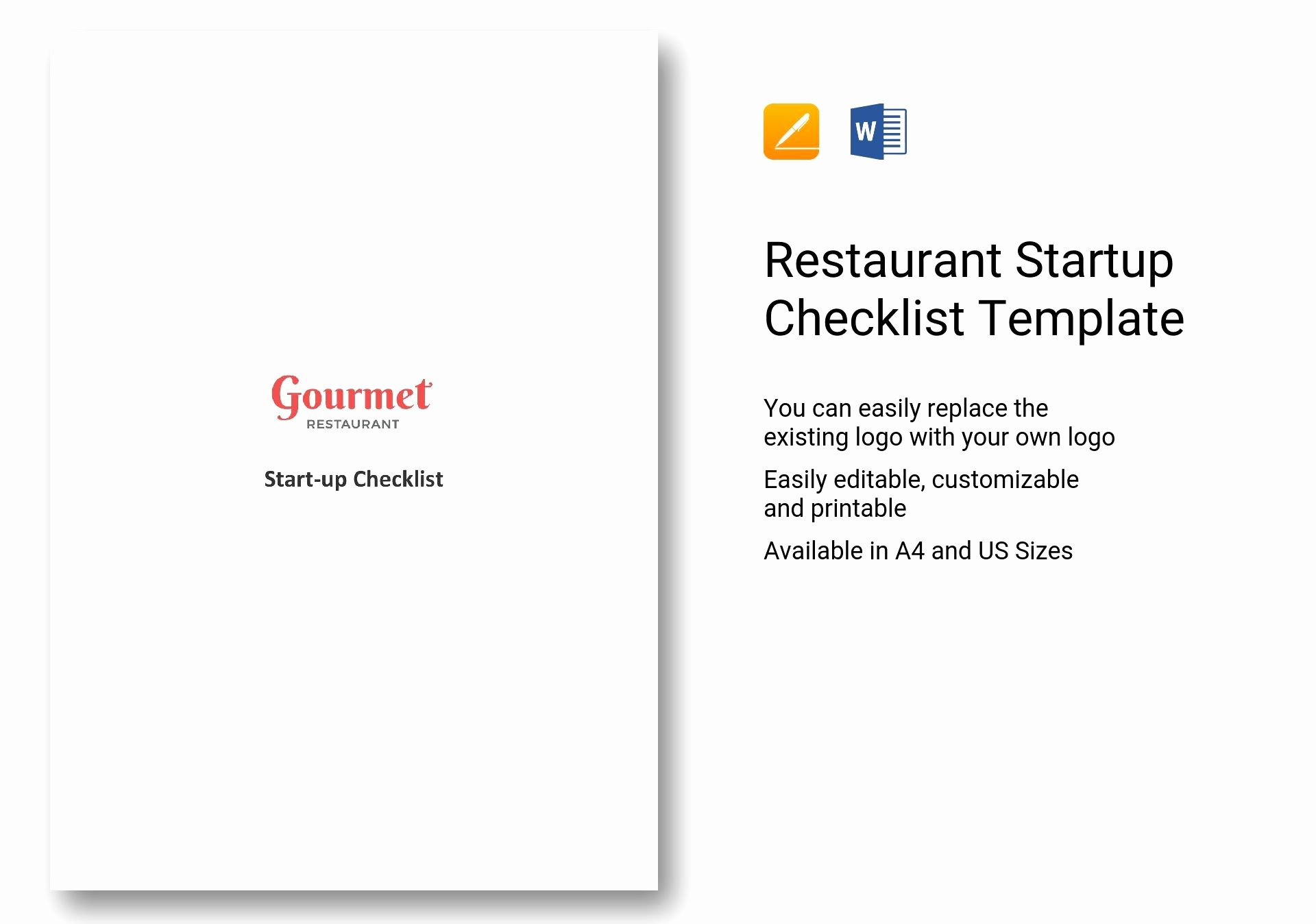 Business Startup Checklist Template Beautiful Restaurant Startup Checklist Template In Word Apple Pages