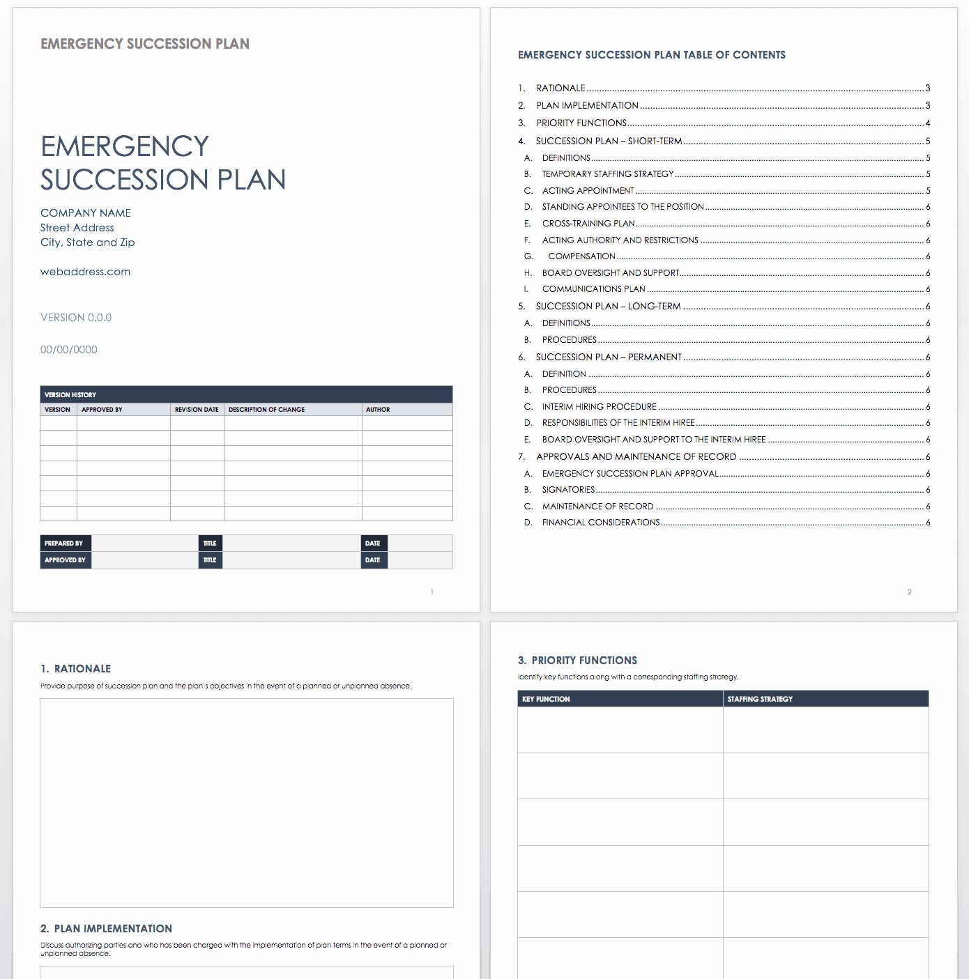Business Succession Plan Template New Sample Business Succession Plan Family Business