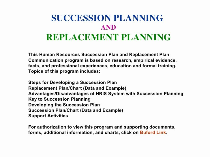 Business Succession Plan Template Unique Succession Planning Munication Program Sample