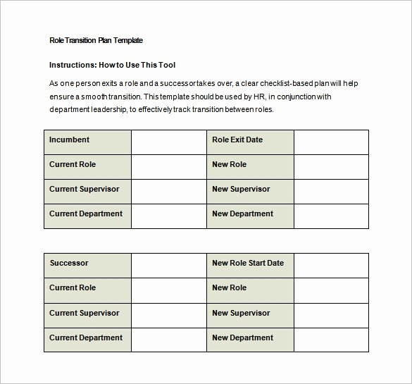 Business Transition Plan Template Awesome 9 Transition Plan Templates Free Word Pdf Documents
