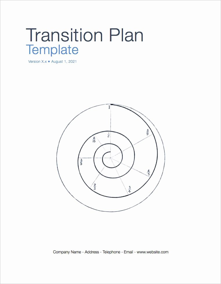 Business Transition Plan Template Inspirational Transition Plan Apple Iwork Pages Numbers