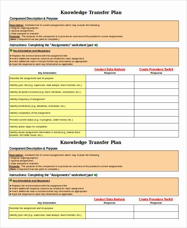 sample transition plans