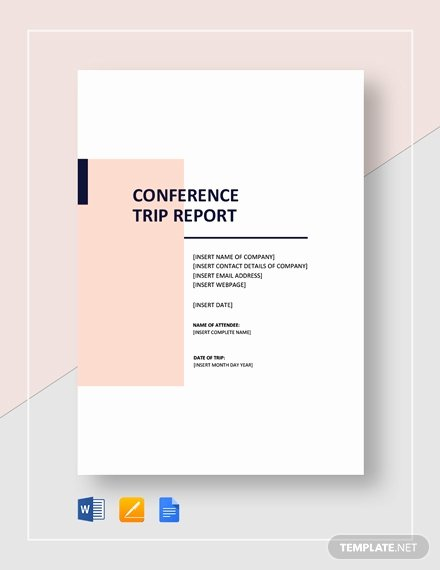 Business Trip Report Template Elegant 18 Business Trip Report Templates Word Pdf