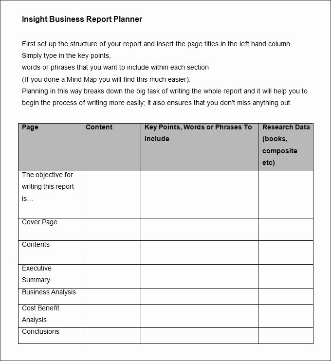 Business Trip Report Template Elegant 35 Business Report Template Free Sample Example