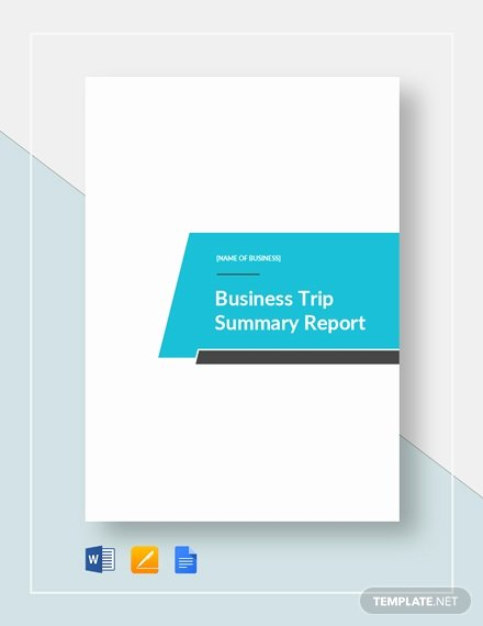 Business Trip Report Template Fresh 33 Free Business Report Templates [download Ready Made
