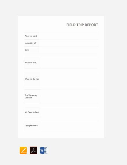 Business Trip Report Template Lovely Free 11 Trip Report Examples In Google Doc Pdf