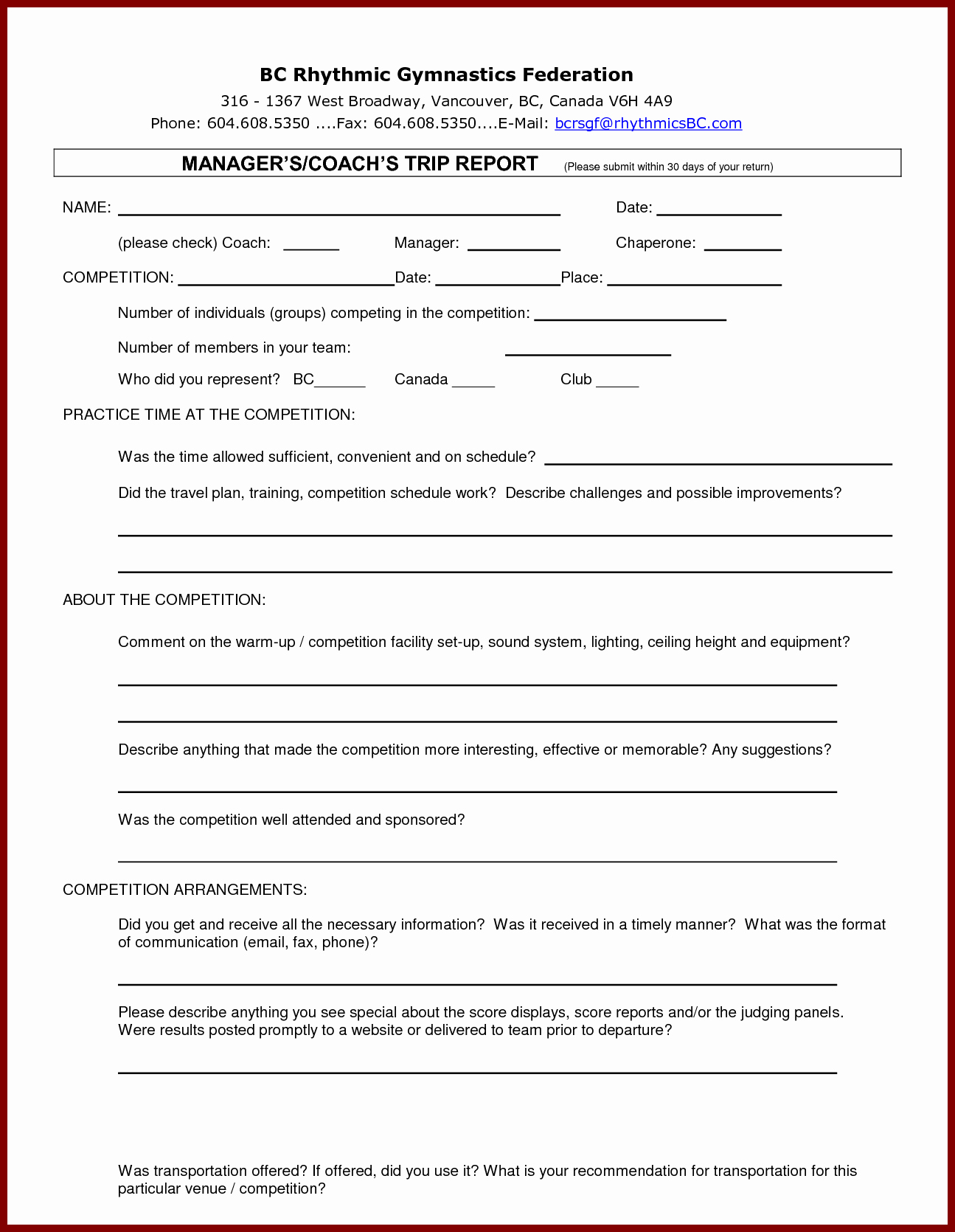 Business Trip Report Template New 12 Business Trip Report Examples Pdf Word Apple