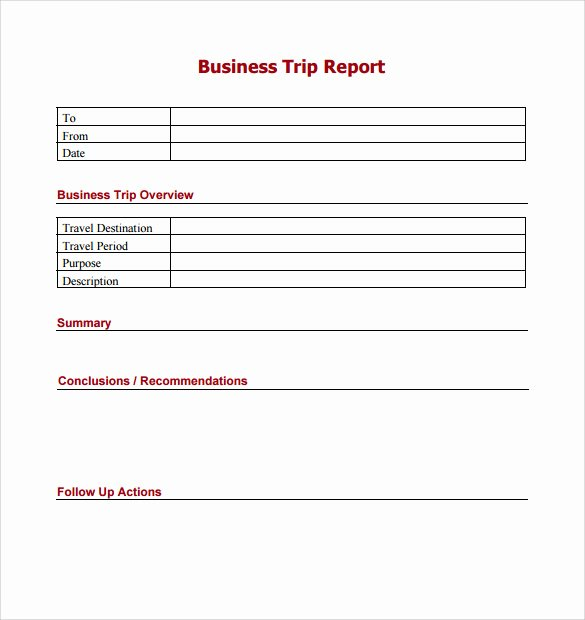 Business Trip Report Template New 16 Trip Report Templates Word Google Docs Apple Pages