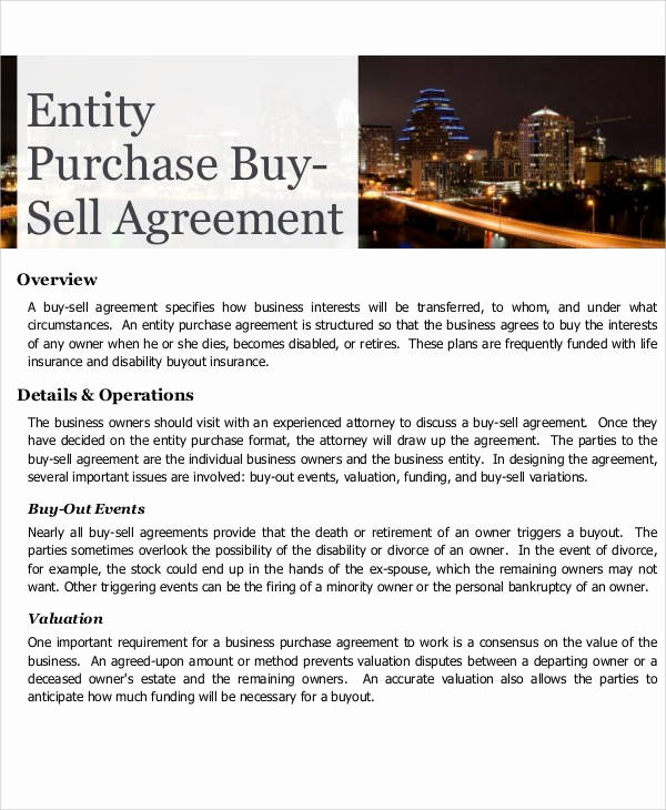 Buy Sell Agreement Template Awesome Printable Agreement Samples