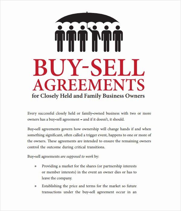 Buy Sell Agreement Template Lovely 20 Sample Buy Sell Agreement Templates Word Pdf Pages