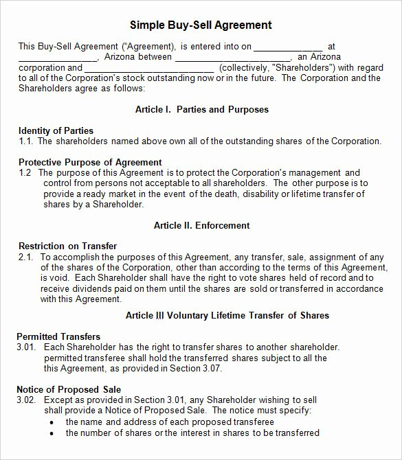 Buy Sell Agreement Template Lovely 42 Agreement Templates Word Pdf
