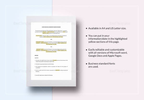 Buy Sell Agreement Template Luxury Free 20 Sample Buy Sell Agreement Templates In Word