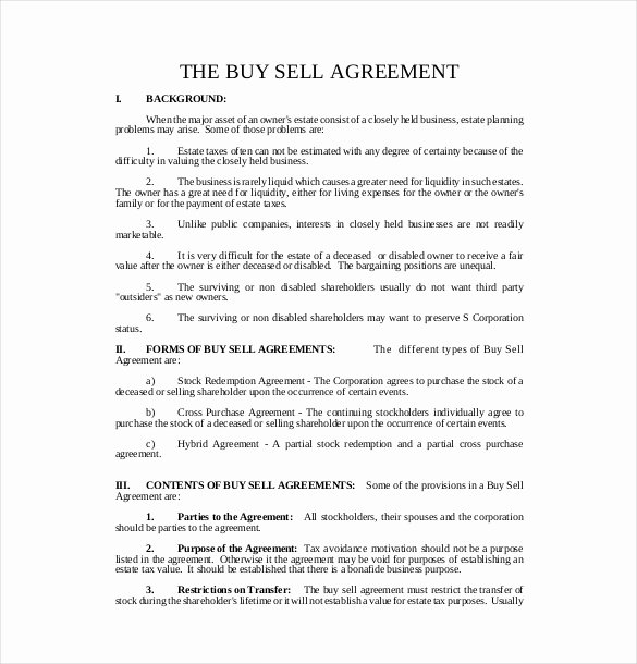 Buy Sell Agreement Template New 25 Buy Sell Agreement Templates Word Pdf