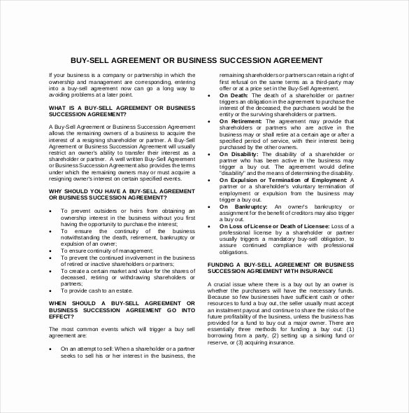 Buyout Agreement Template Free Best Of 25 Buy Sell Agreement Templates Word Pdf