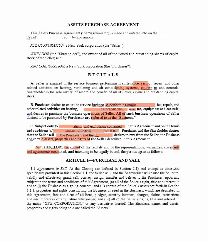 Buyout Agreement Template Free Best Of 37 Simple Purchase Agreement Templates [real Estate Business]