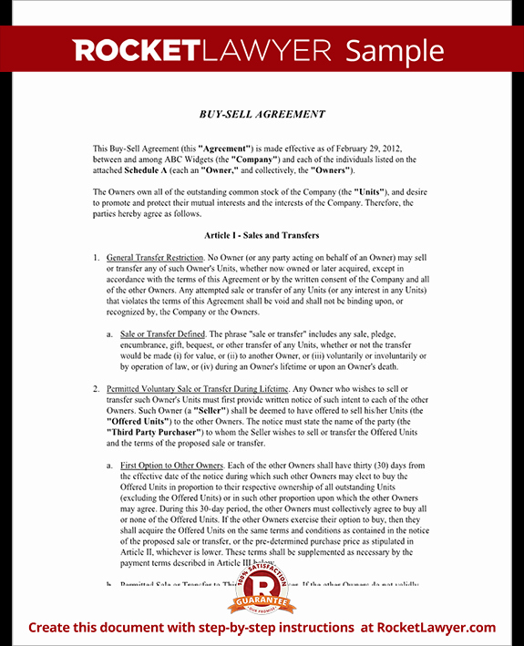 Buyout Agreement Template Free Inspirational Buy Sell Agreement form Sample Buy Sell Agreement Template