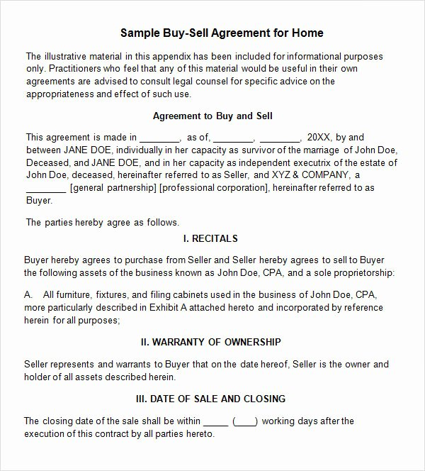 Buyout Agreement Template Free Lovely 20 Sample Buy Sell Agreement Templates Word Pdf Pages