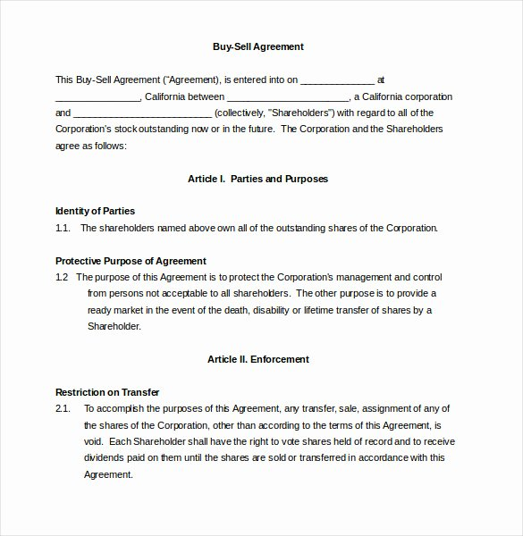 Buyout Agreement Template Free Luxury 25 Buy Sell Agreement Templates Word Pdf