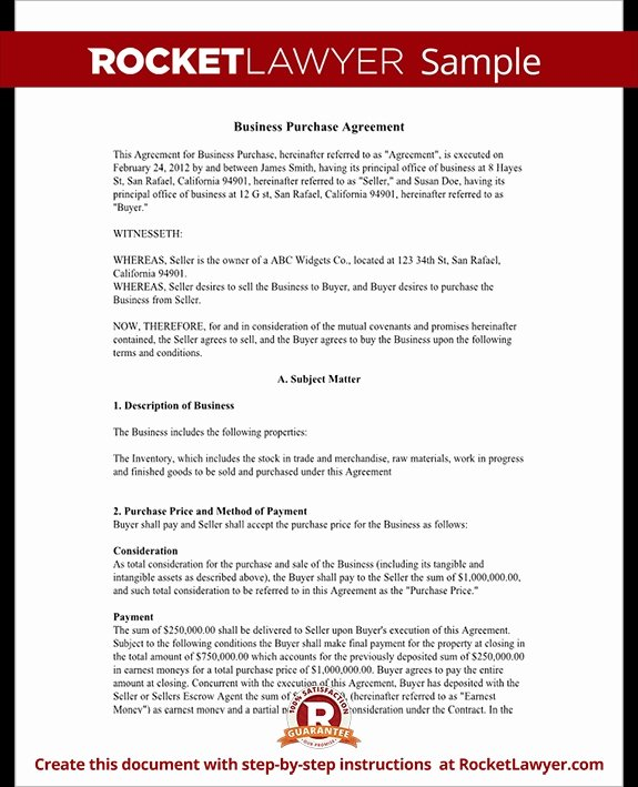 Buyout Agreement Template Free Unique Business Purchase Agreement Template Free