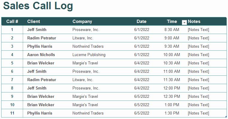 Call Log Template Excel Inspirational 5 Call Log Templates to Keep Track Your Calls