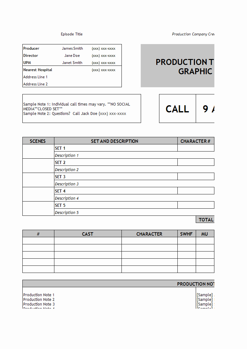 call log excel template