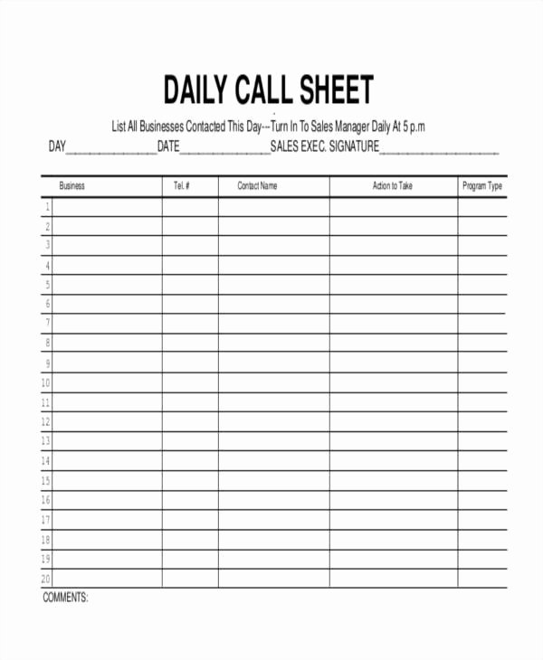 Call Log Template Excel Lovely 17 Call Log Templates In Pdf