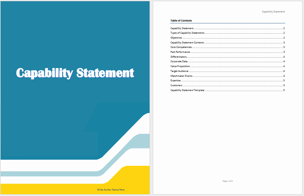 Capability Statement Template Doc Inspirational Capability Statement Template