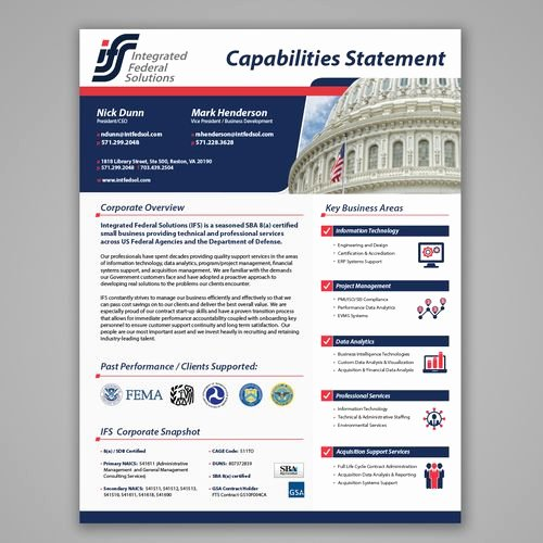 Capability Statement Template Doc Lovely 11 Best Images About Capabilities Statement On Pinterest
