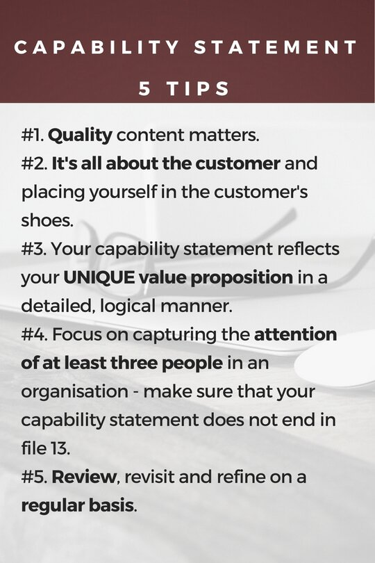 Capability Statement Template Free New Your Capability Statement is About Your Customer More Than You