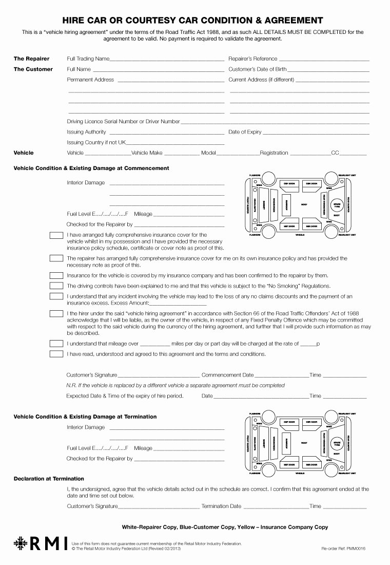 Car Lease Agreement Templates Beautiful Pmm0016 Hire Car Condition & Agreement form Pad Rmi