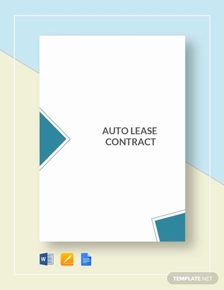 Car Lease Agreement Templates Inspirational 14 Vehicle Lease Agreement Templates Docs Word
