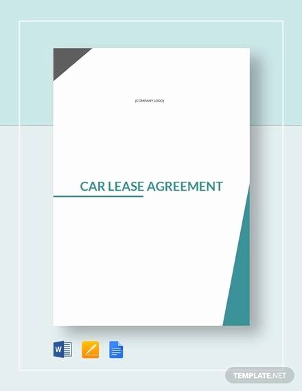 Car Lease Agreement Templates Luxury 5 Sample Car Lease Agreements Word Pdf Pages