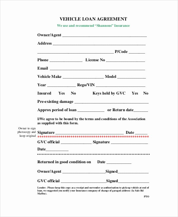 Car Loan Agreement Template Pdf Beautiful Car Loan Contract Template – Emmamcintyrephotography