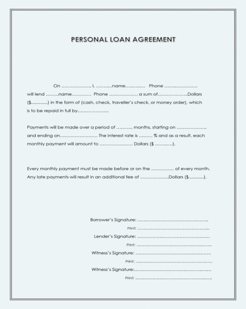 Car Loan Agreement Template Pdf Beautiful form for Loan Agreement