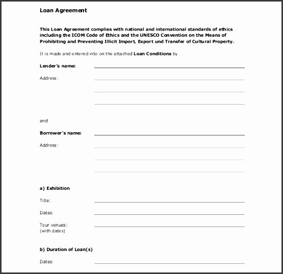 Car Loan Agreement Template Pdf Best Of 9 Simple Loan Agreement Template Sampletemplatess