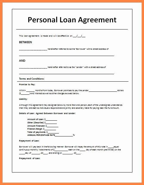 Car Loan Agreement Template Pdf Inspirational 5 Sample Loan Agreement Letter Between Friends