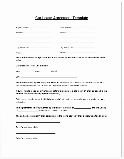 Car Rental Agreement Template Awesome Loan Agreement Template