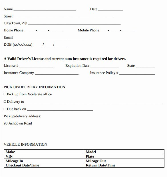 Car Rental Agreement Template Best Of Car Rental Agreement Templates 12 Free Documents In Pdf