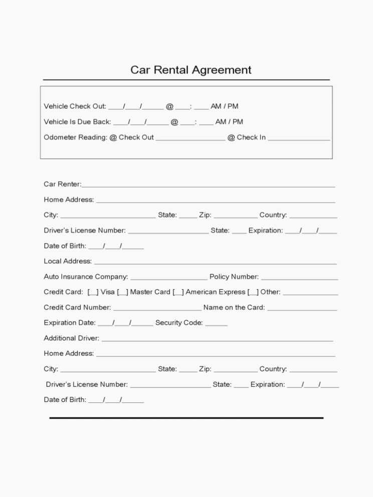 Car Rental Agreement Template Inspirational Learn the Truth About Car