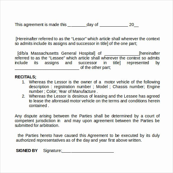 Car Rental Agreement Template Luxury Sample Car Rental Agreement 12 Documents In Pdf Word