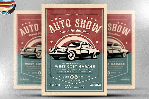 Car Show Flyer Template Free Awesome Old Classic Car Show Flyer Template Flyer Templates On