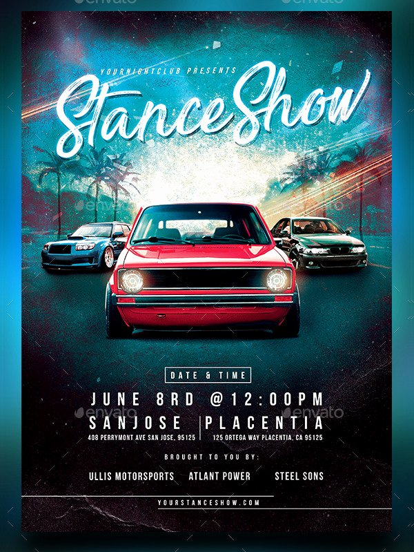 Car Show Flyer Template Free Beautiful 25 Car Show Flyer Templates Free & Premium Download