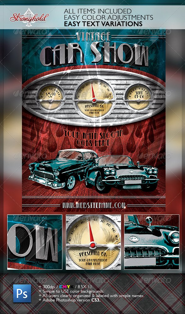 Car Show Flyer Template Free Best Of Vintage Car Show Dashboard Flyer Template by Stronghold