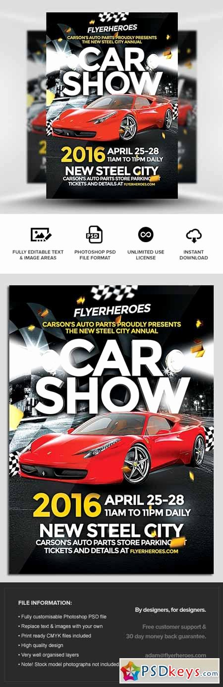 Car Show Flyer Template Free Inspirational Car Show Flyer Template Free Download Shop Vector
