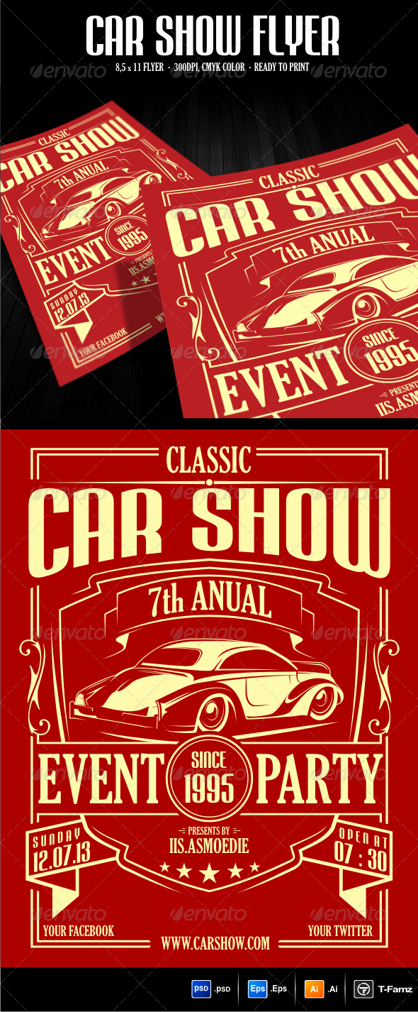 Car Show Flyer Template Free Inspirational Car Show Flyer Template Graphicriver 300dpi with Size 8