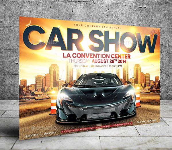Car Show Flyer Template Free Lovely 19 Car Show Flyer Templates Free & Premium Download