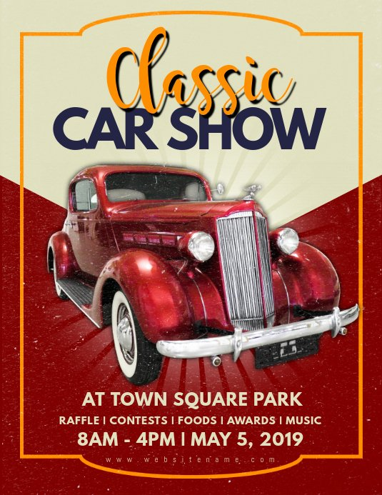 Car Show Flyer Template Free Luxury Classic Car Show Flyer Template