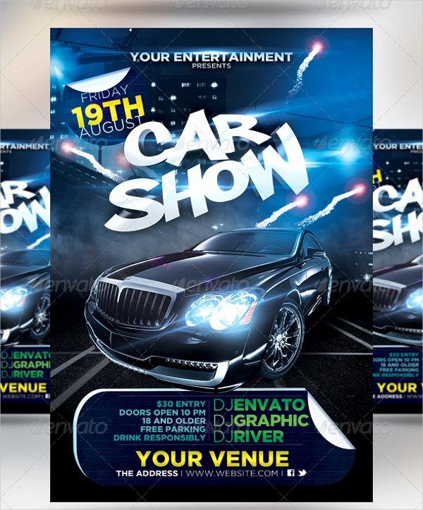 Car Show Flyer Template Free New 21 Car Show Flyer Templates Psd In Design Ai